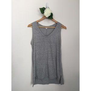 GAP • Heather Gray Knit Tunic Tank Top